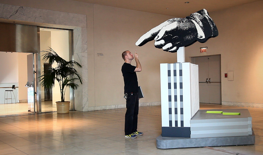 Giant Hand, Machine Project at the Hammer Museum